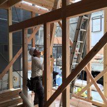建て方、始まりました @武蔵小杉